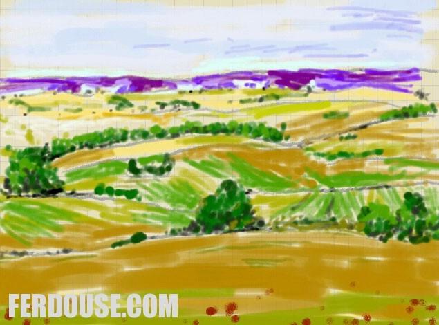 Watercolor Landscape – Digital Art