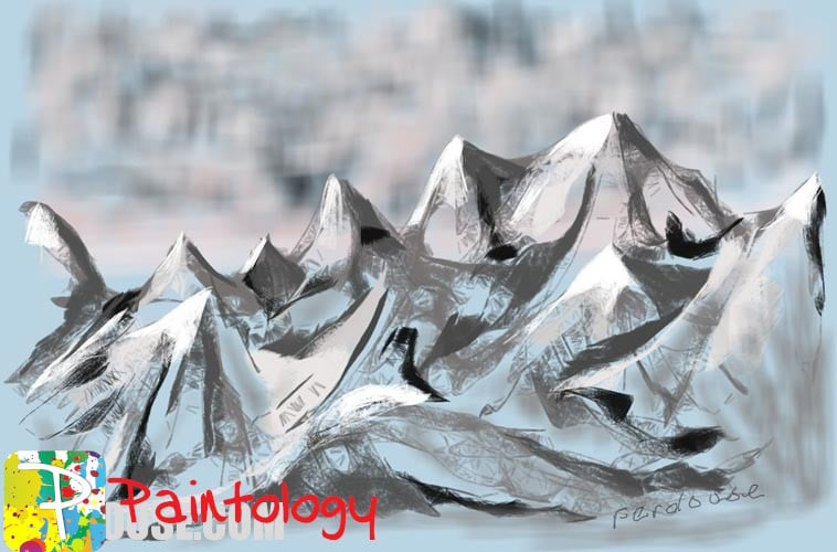 Digital Painting & Drawing – Mountain Landscape