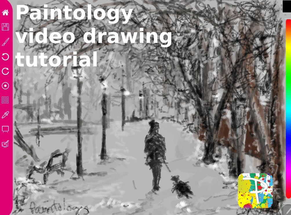 A woman walking the dog – Paintology Drawing Demo