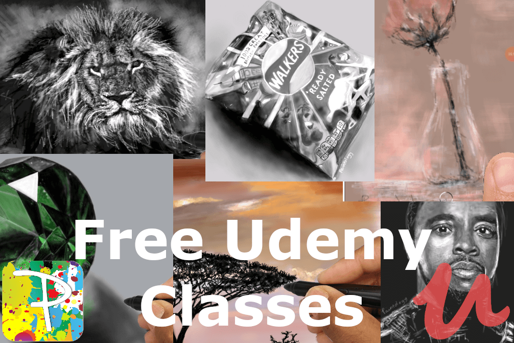 Free Udemy courses available for you to get better in your digital drawing with Paintology