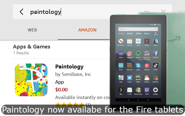 Paintology is now available for the Amazon fire tablets