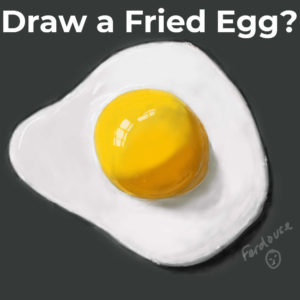 draw a fried egg - featured