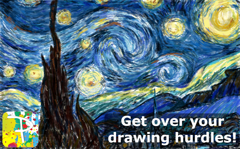 Getting over the hurdle in drawing, painting or sketching with your phones and tablets