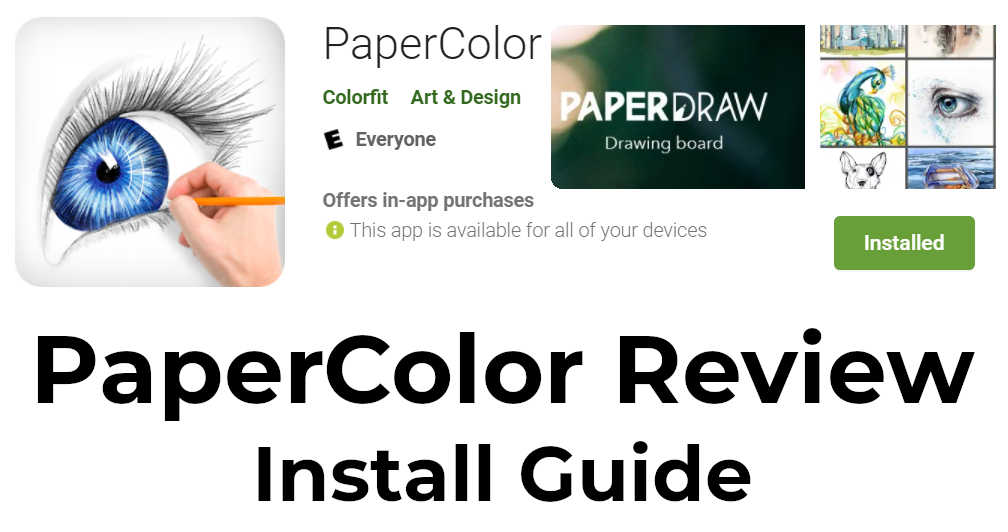 Papercolor app - Install guide