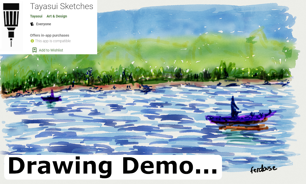 Painting & drawing app review | Tayasui Sketches from the Google play store | Install, guide and demo