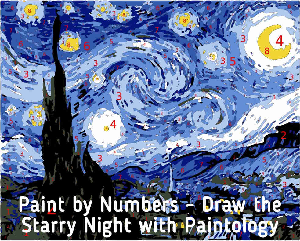 paint by number - starry night featured