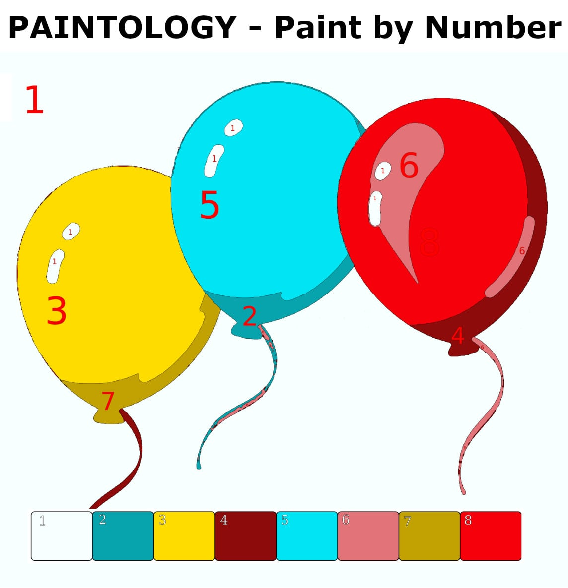 Paint by Number - Balloons Featured