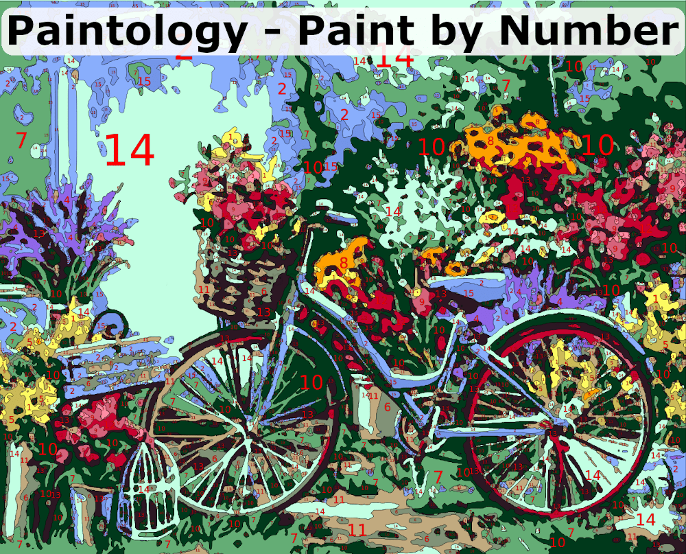 Paint by Number - Featured bicycle scene