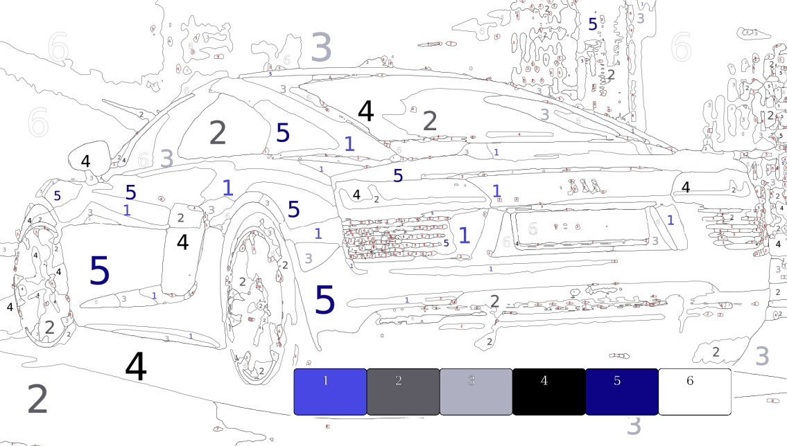 fast car template - paint by number