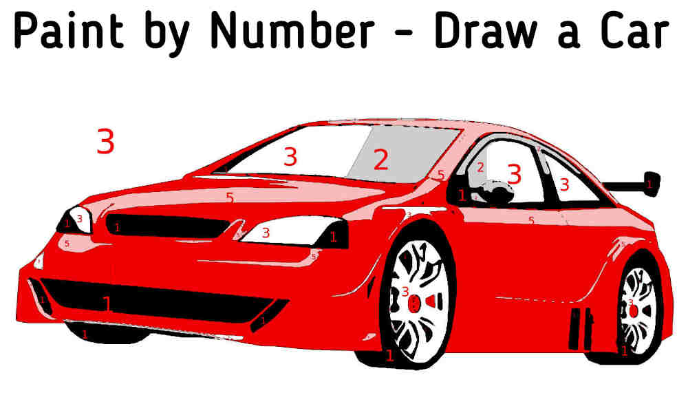 Paint by Number - Draw a Car - featured