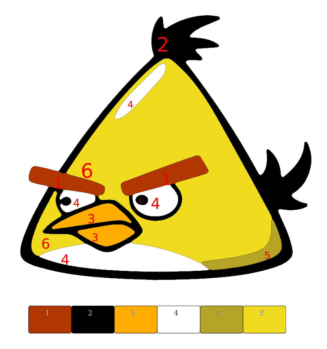 paint by number - angry bird featured