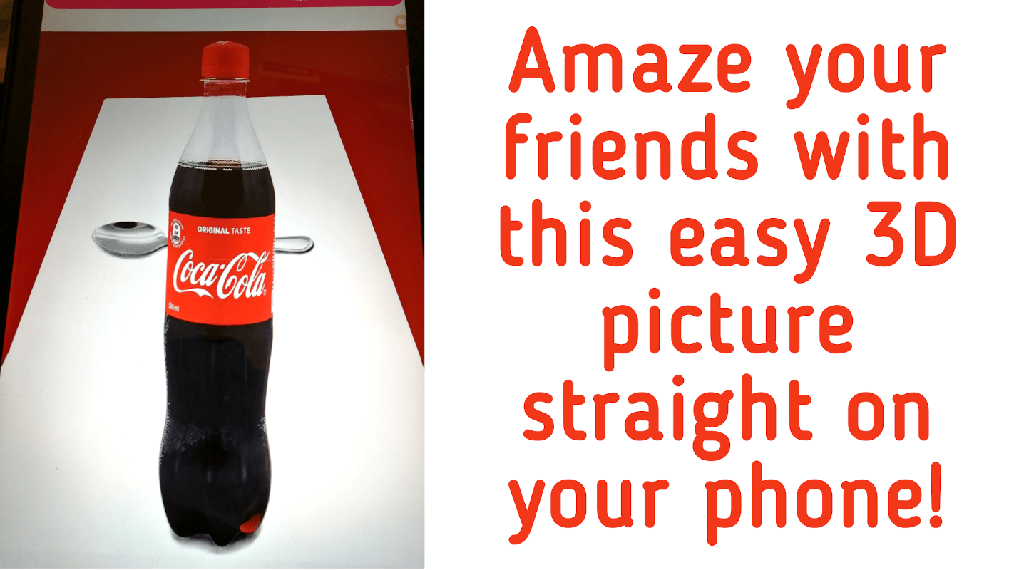 3D coke drawing - featured