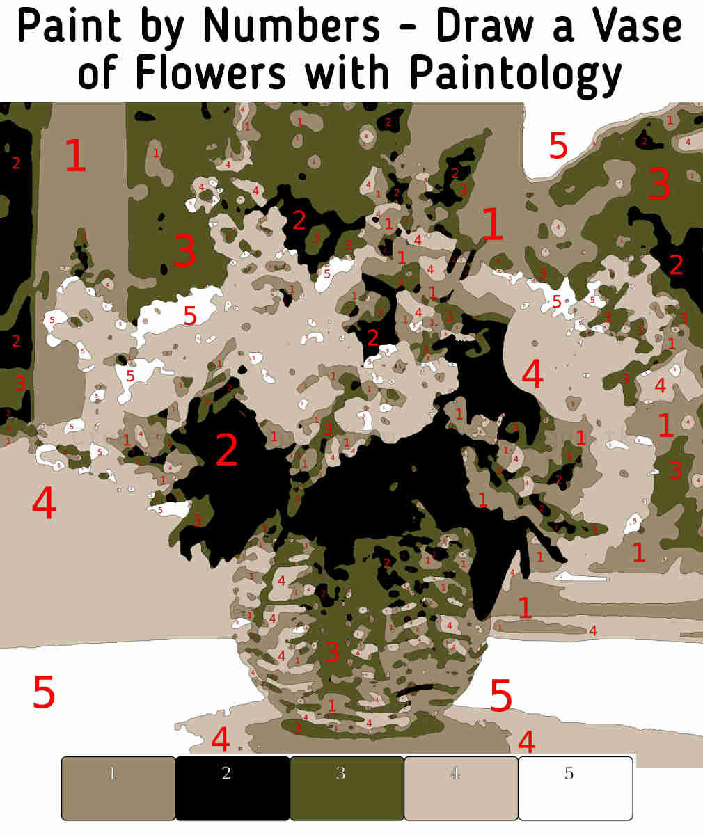 paint by numbers - vase flowers featured