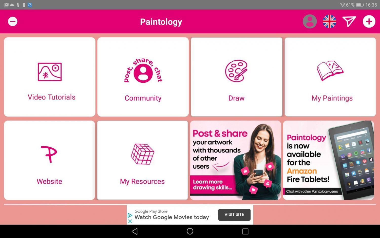 Paintology home screen - Oct 2020
