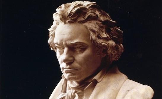 A bust of Ludwig van Beethoven