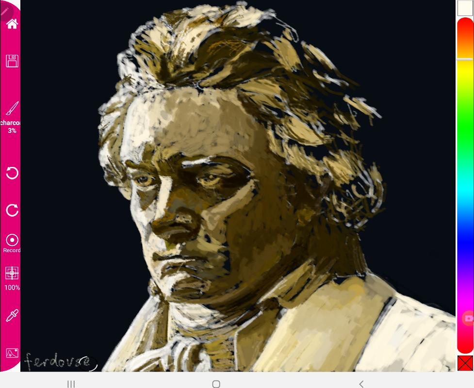 Beethoven - Charcoal brush