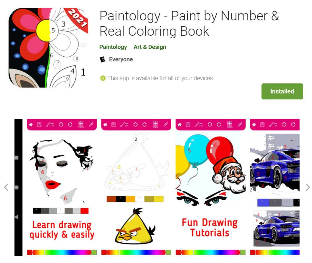 paint by number - paintology link