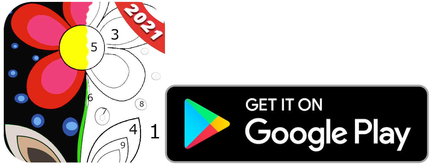 paint by number logo - get it on google
