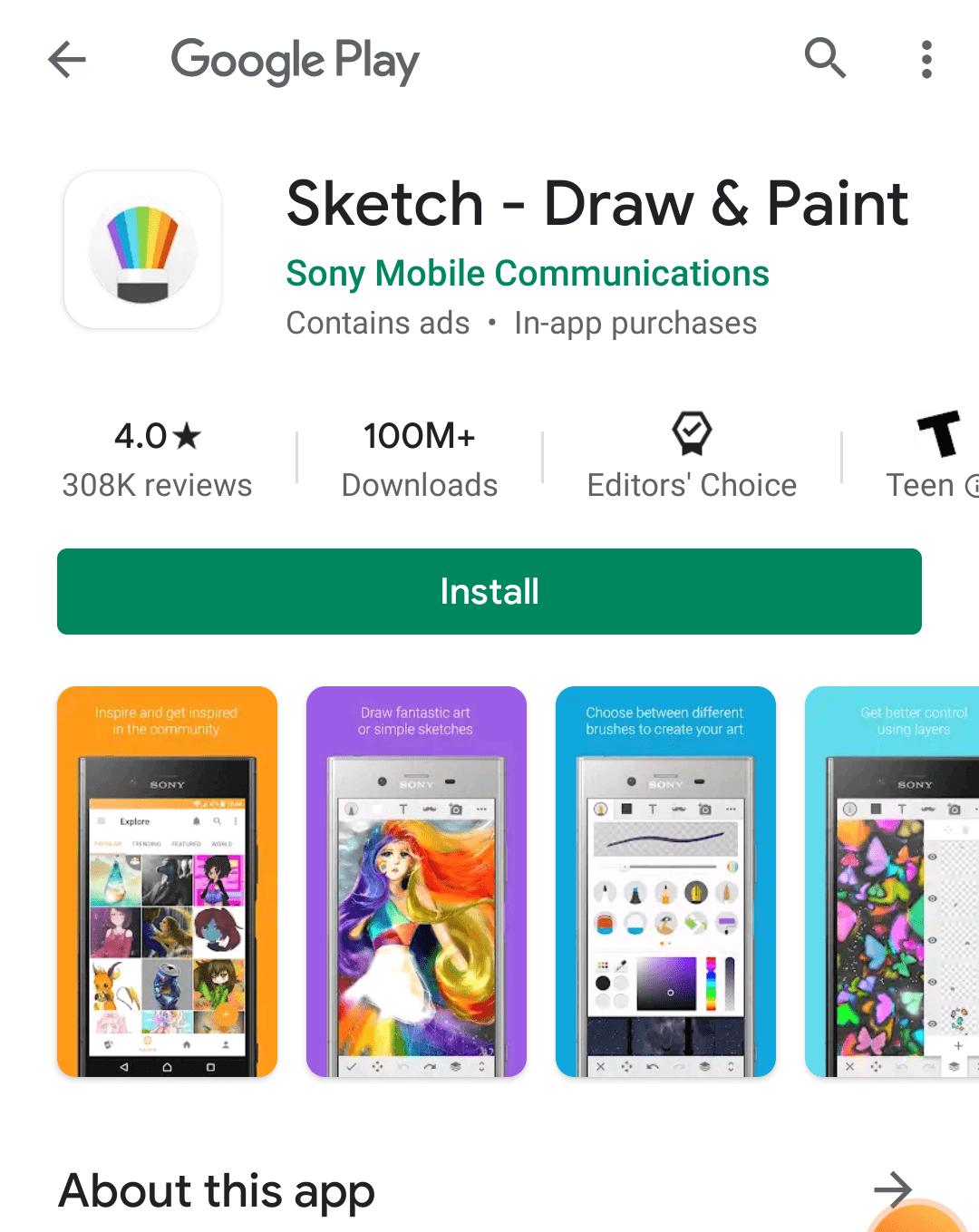 sony sketch play install link