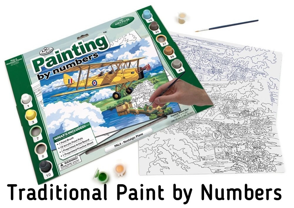 traditional paint by numbers - blog post launch