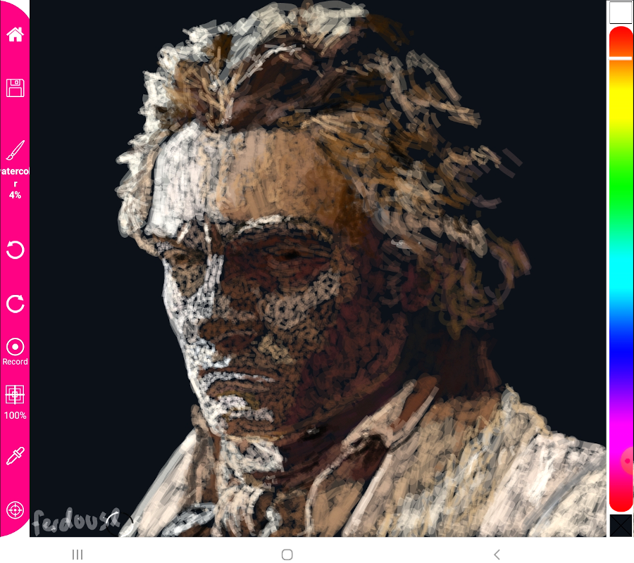 Beethoven - water color brush