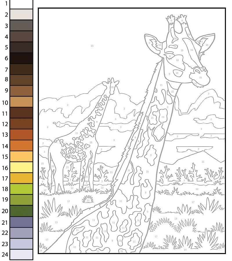 pbyno - giraffe template
