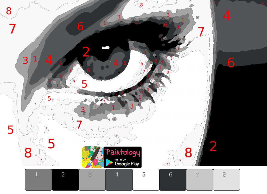 semi realistic drawing - female eye - featured
