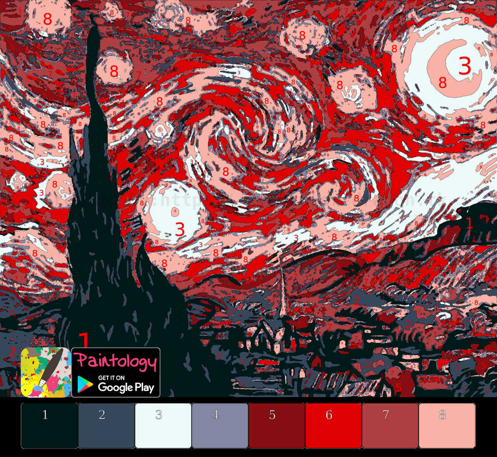 red starry night - featured