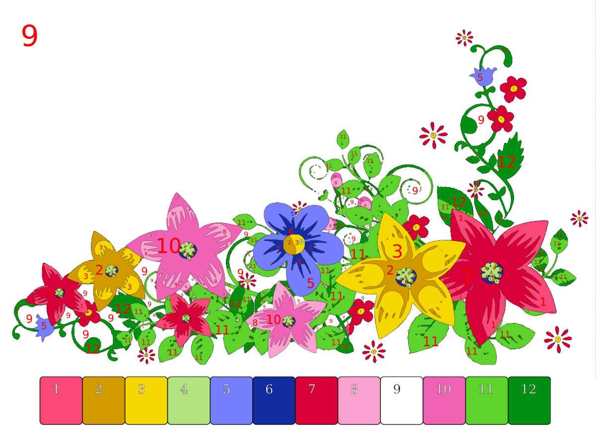 paint by nos - featured flowers