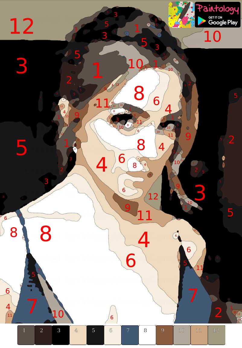 PbyNo - digital drawing celebrity featured