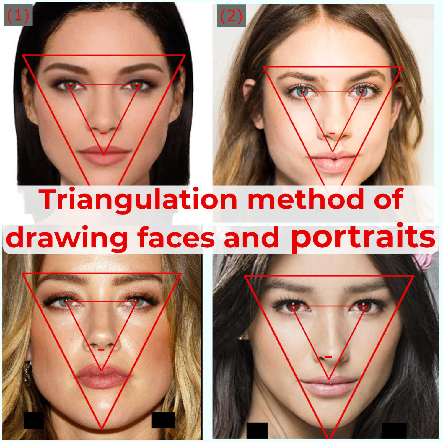 triangulation method of drawing faces - featured