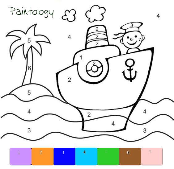 PbyNo - sailor in the sea - template