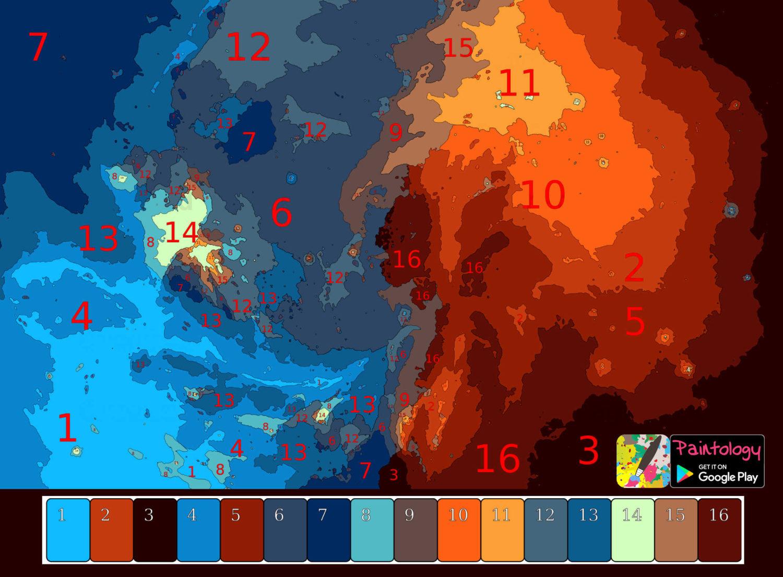 PbyNo - galaxy nebula coloring - featured