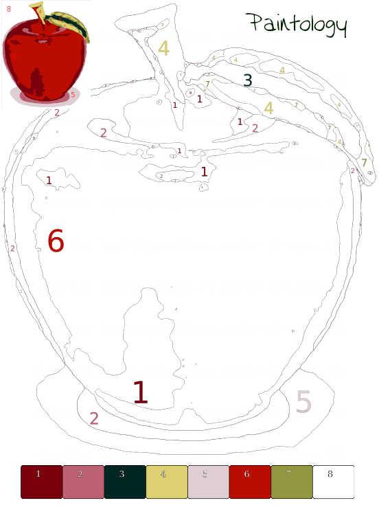 glass apple 1 - PbyNo template