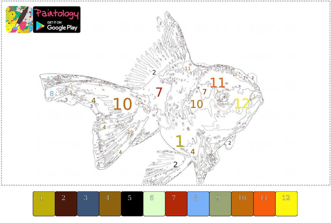 gold fish - pbyno template