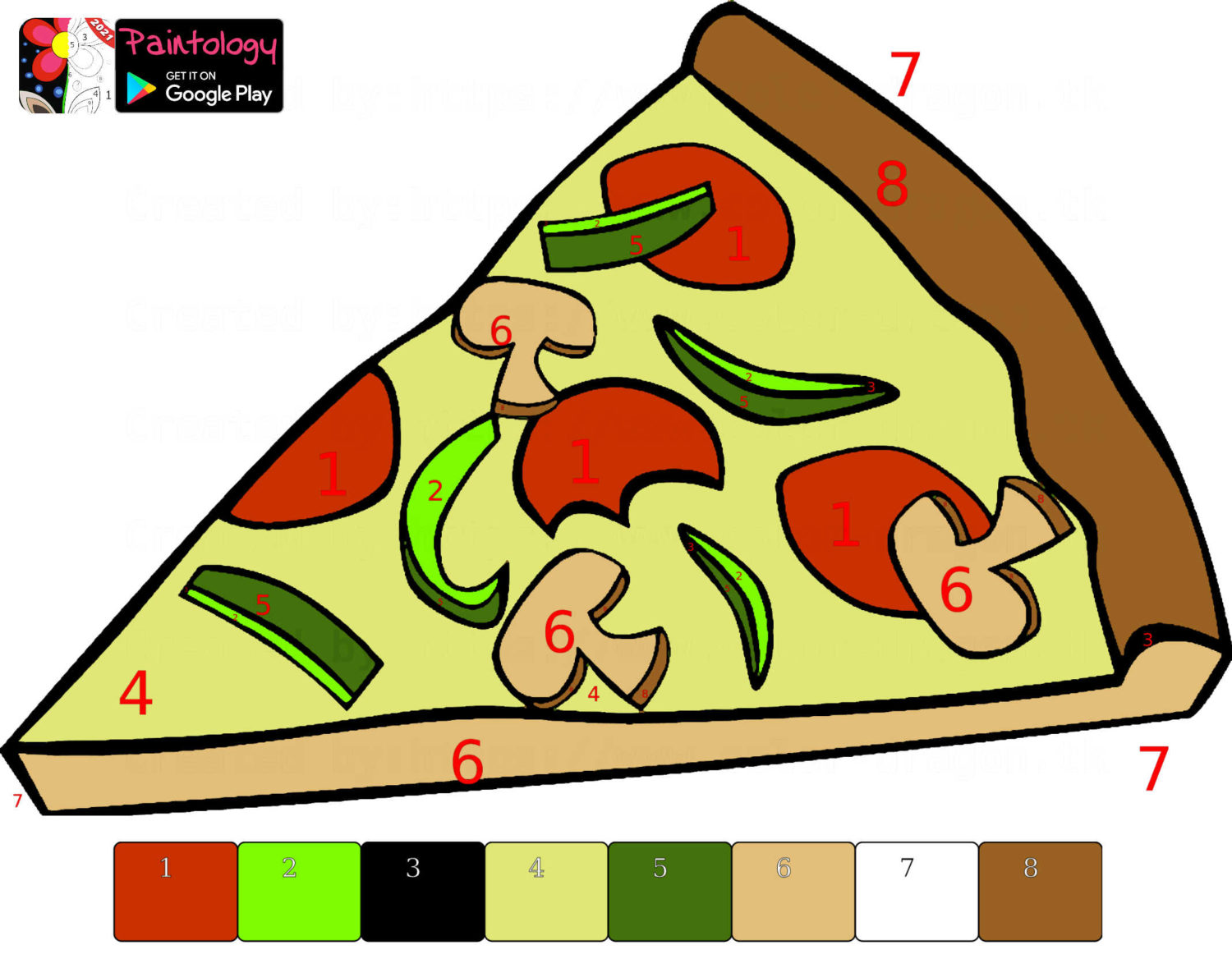 pizza coloring - PbyNo featured