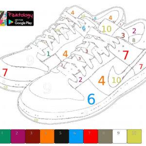 tennis shoes PbyNo template