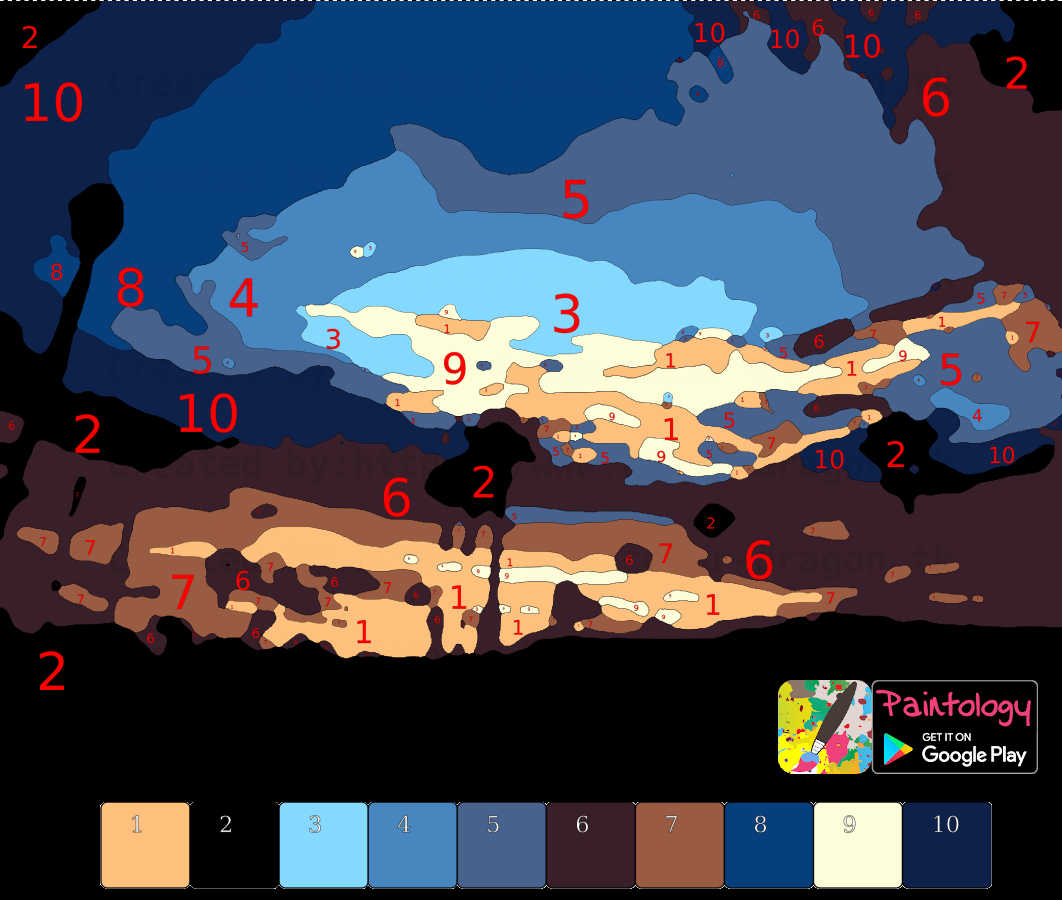 paint by numbers - paint a desert sunset - featured